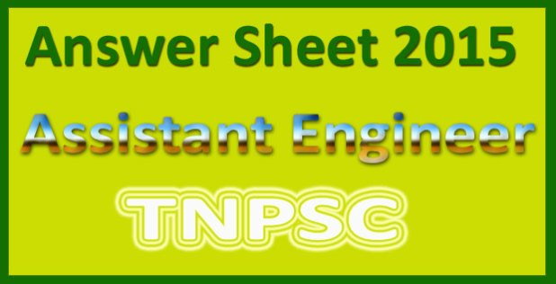 TNPSC AE answer key 2015
