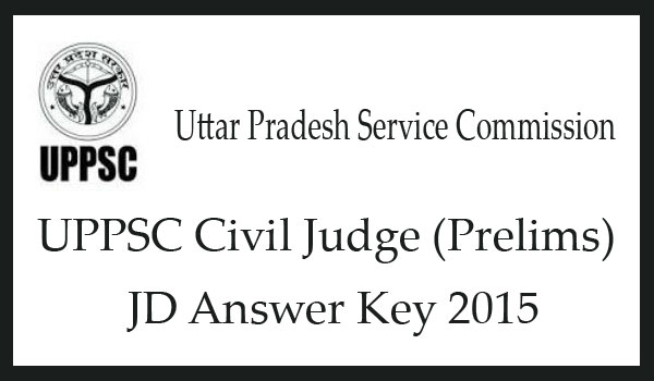 UPPSC civil judge answer key 2015