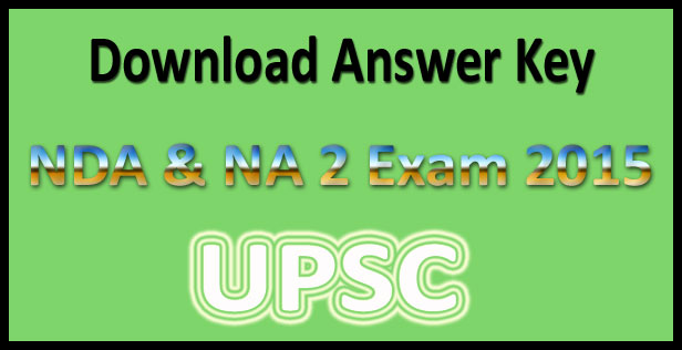 UPSC NDA 2 answer key 2015