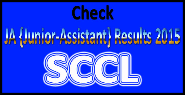 SCCL Junior assistant result 2015