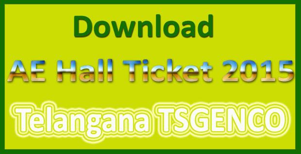 TSGENCO AE hall ticket 2015