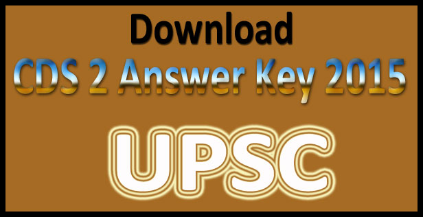 CDS 2 answer key 2015