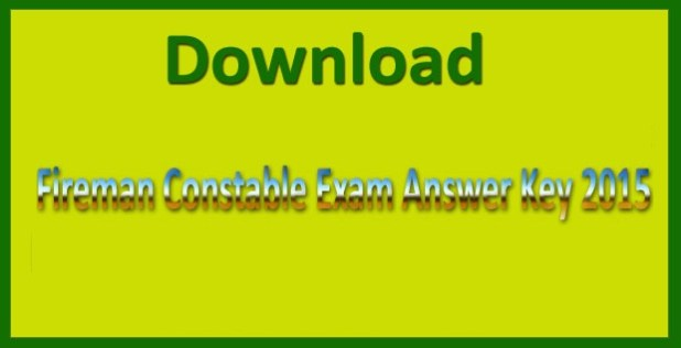 CISF constable fire answer key 2015