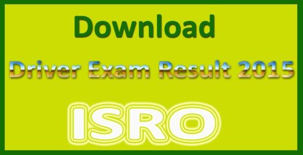ISRO driver results 2015