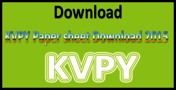 KVPY answer key 2015
