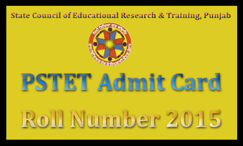 PSTET admit card 2016