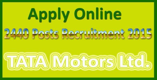 TATA motors recruitment 2015