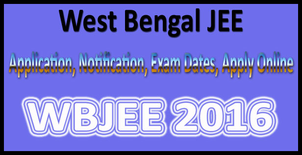 WBJEE application form 2016