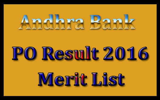 Andhra bank PO results 2016