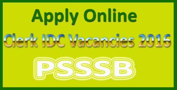 PSSSB clerk recruitment 2016