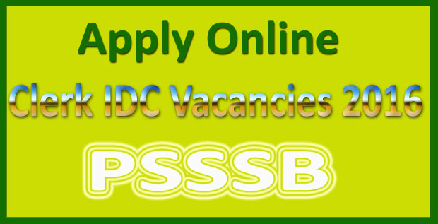 PSSSB clerk recruitment 2016