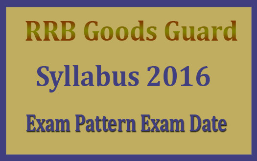 RRB goods guard syllabus