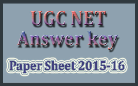 UGC net answer key Jan 2017