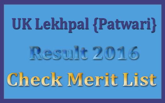 UK Patwari result 2016