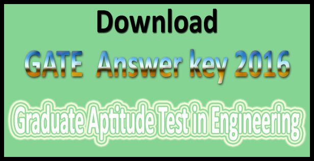 GATE ECE answer key 2016