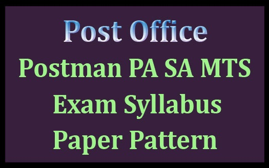 Post office syllabus 2017