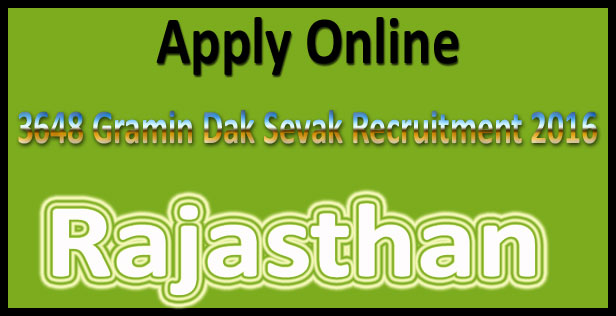 Rajasthan GDS recruitment 2016