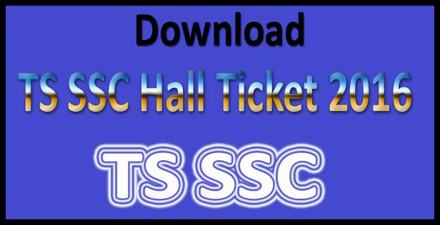 TS SSC hall ticket 2017