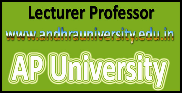 AP university lecturer recruitment 2016