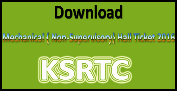 KSRTC hall ticket 2016