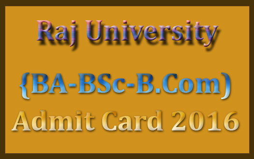 Uniraj admit card 2016