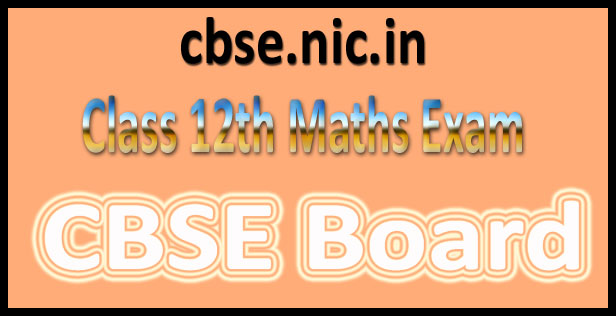CBSE 12th Maths paper 2016