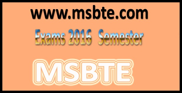 MSBTE summer 2016 time table