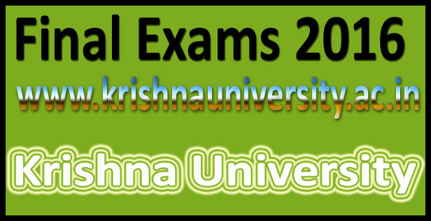 Krishna University Degree Results 2016
