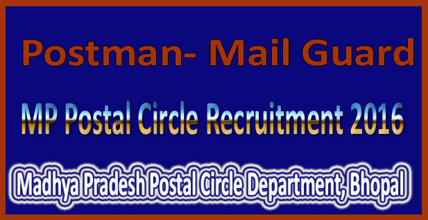 MP Postal Circle Recruitment 2016
