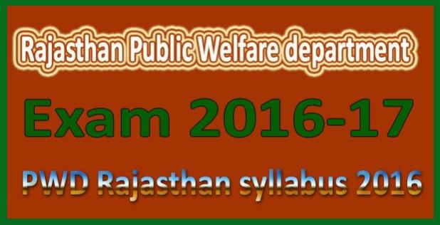 PWD Rajasthan syllabus 2016