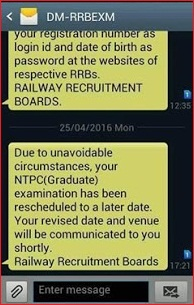RRB NTPC exam cancelled