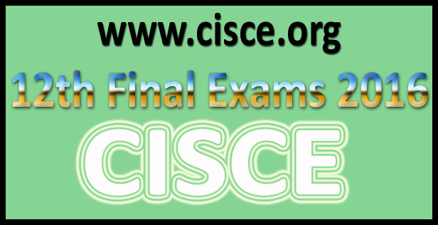 ISC Class 12th Result 2016