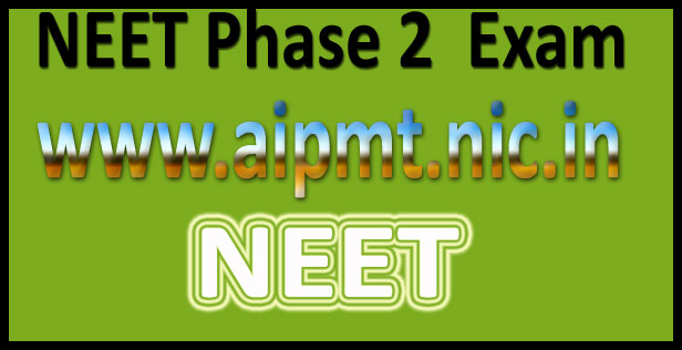 NEET Phase 2 registration 2016