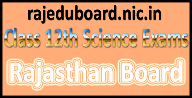 RBSE 12th Science Result 2016