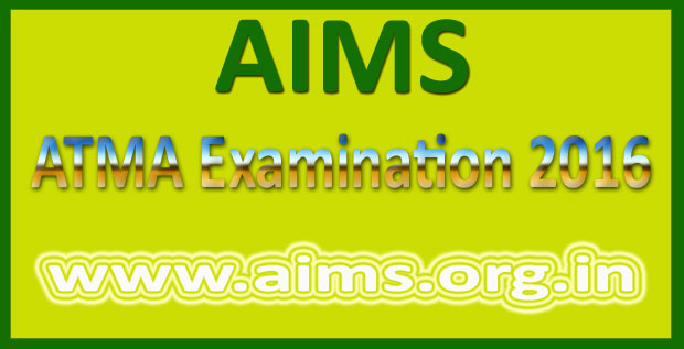 AIMS ATMA Admit card July 2016
