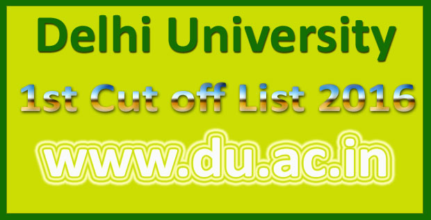 DU 1st Cut off List 2016
