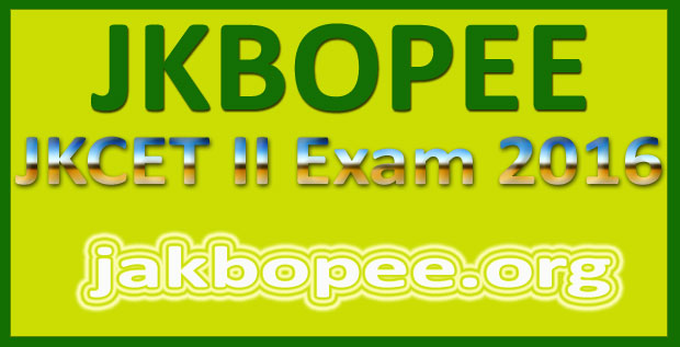 JKBOPEE admit card 2016