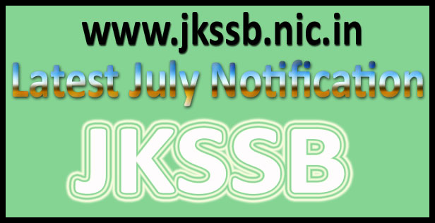 JKSSB Notification 2016