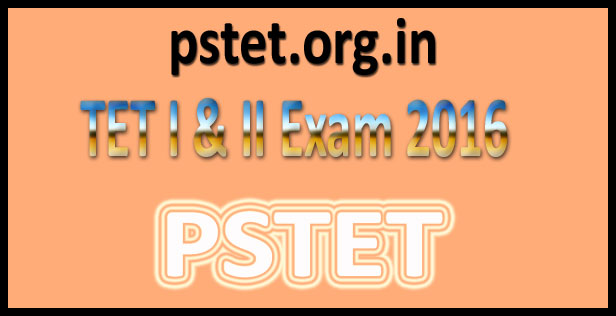 PSTET Online Application Form 2016