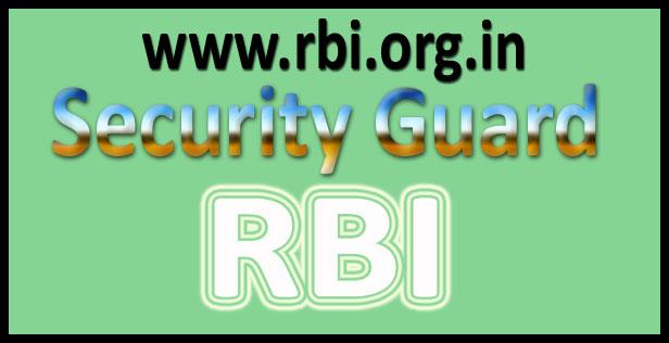 RBI security guard syllabus 2016
