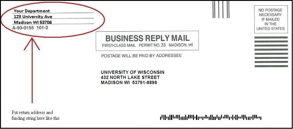 Business Reply Mail Uw Madison Postal Mail Uw Madison