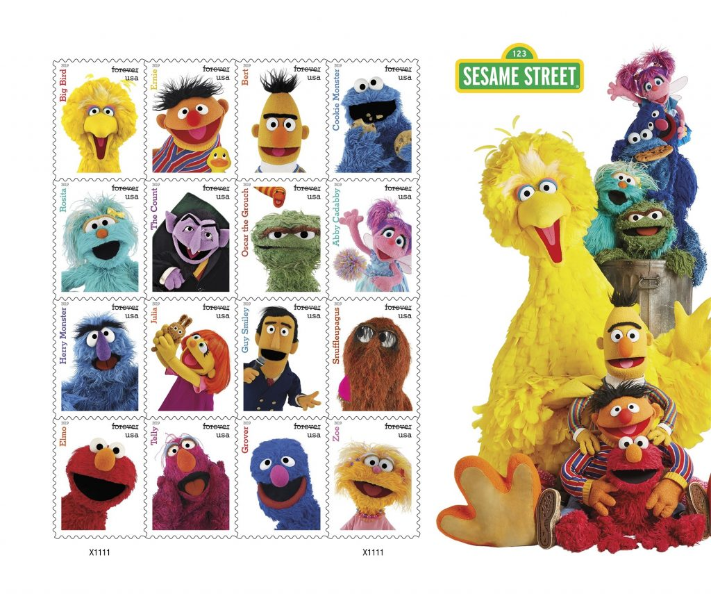 Sesame Street Forever Stamps Now Available For Purchase