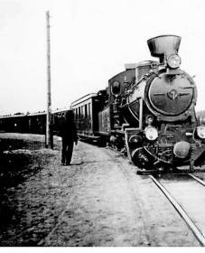 Поезд на линии Кобыльник-Нарочь (1937).