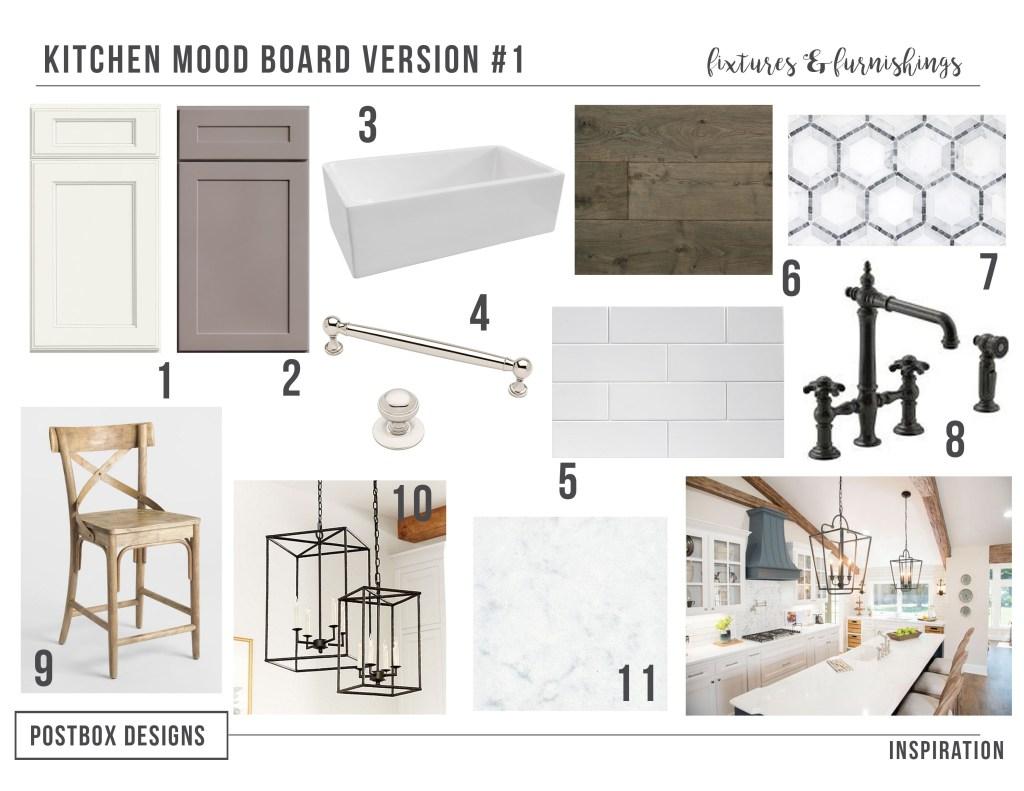 Kitchen Design Island Farmhouse Kitchen 4 Mood Boards To Create Your Dream