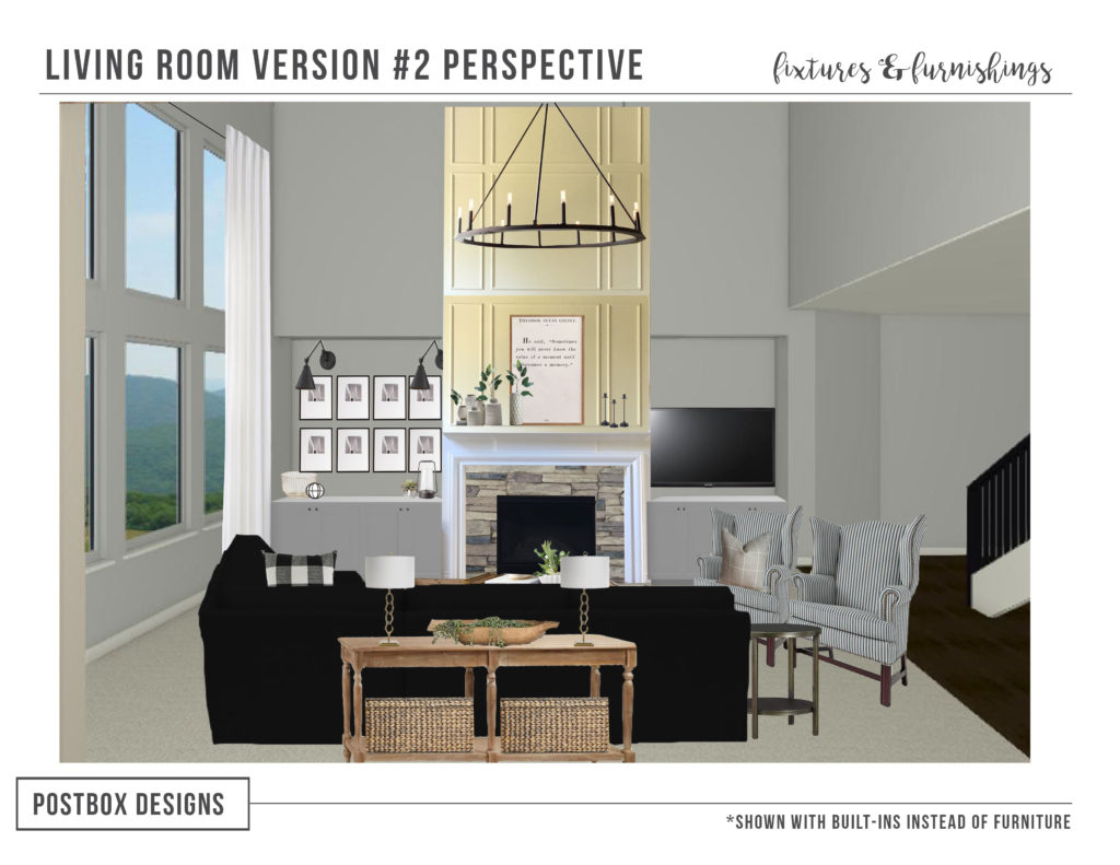 Postbox Designs Interior E-Design: Farmhouse Meets Modern Living Room Makeover, Modern Farmhouse Decor