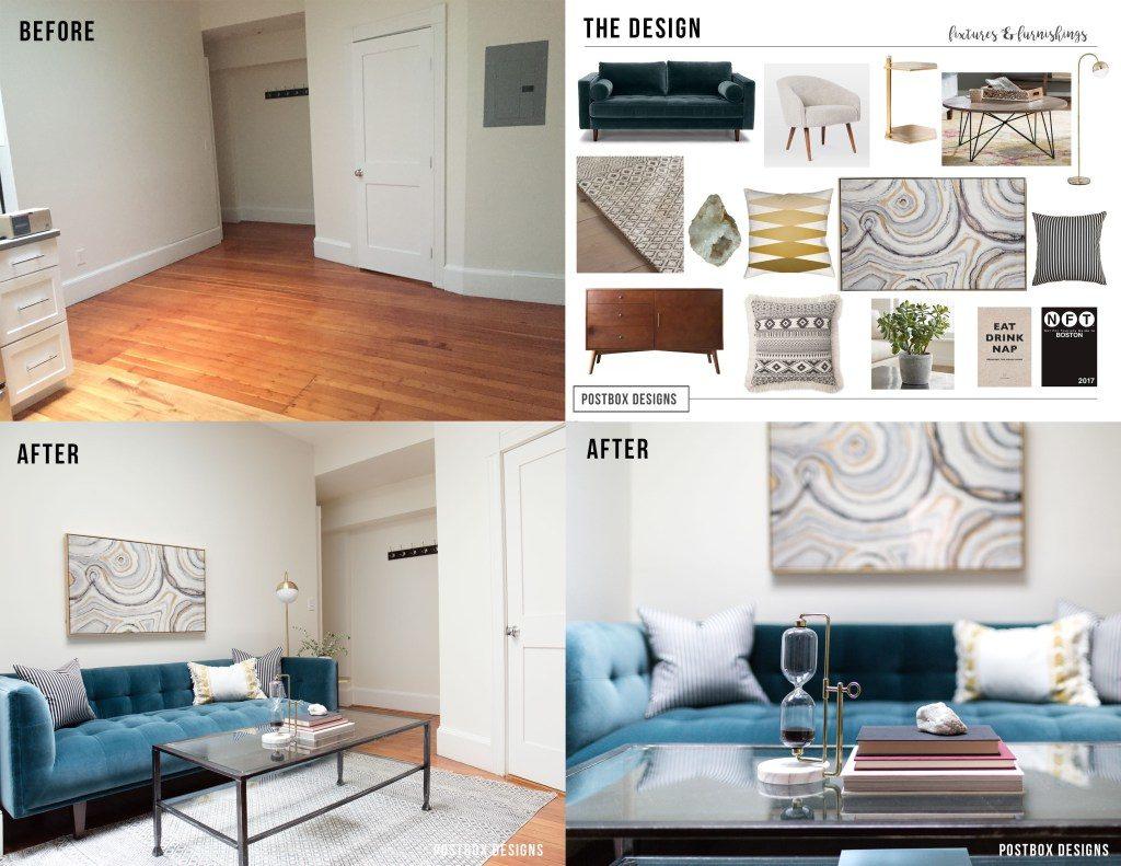 Modern Boho Living Room On A Budget Room Makeover Reveal Postbox Designs