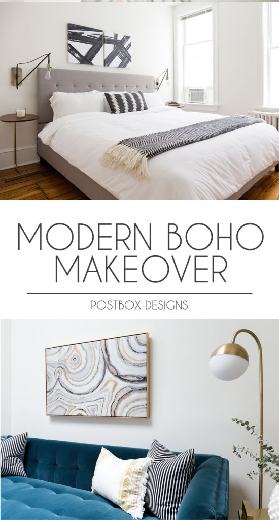 Tiny Home Designs: Modern Boho Living Room On A Budget: Room Makeover Reveal