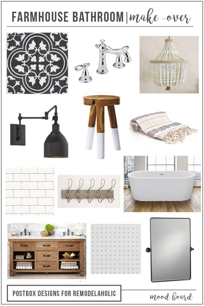 Postbox Designs E-Design: Farmhouse Bathroom Design, Fixer Upper Bathroom, for Remodelaholic