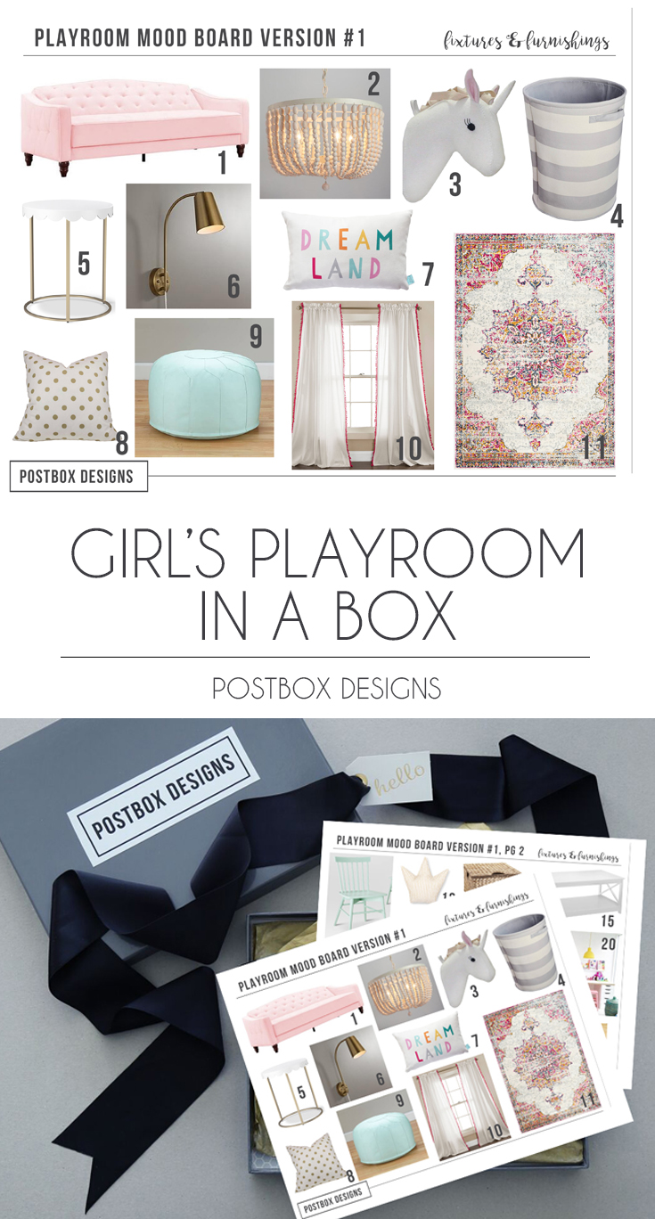 Postbox Designs, Interior E Design: Girl Playroom Design, Pink Playroom  Decor,