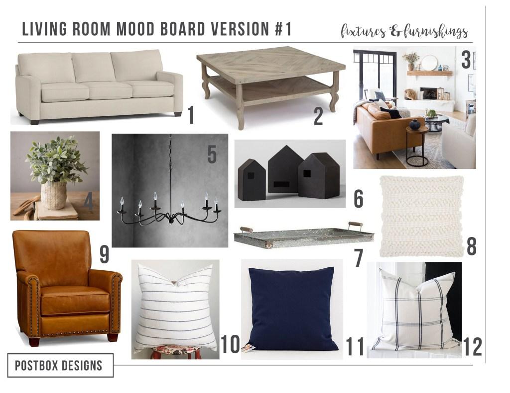 Farmhouse living room design ideas postbox designs e design - Design living room online ...